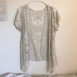 Adorable lace cardigan (short sleeves)